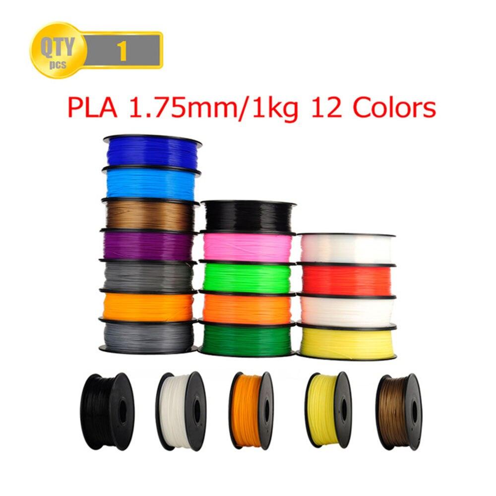 PLA 1.75mm 1Kg/spool Plastic Rod Rubber Ribbon Consumables Material Refills for MakerBot/RepRap/UP/Mendel 3D Printer Filaments pla gold wanhao 3d printer filamnets pla 1 75mm plastic spool 1kg