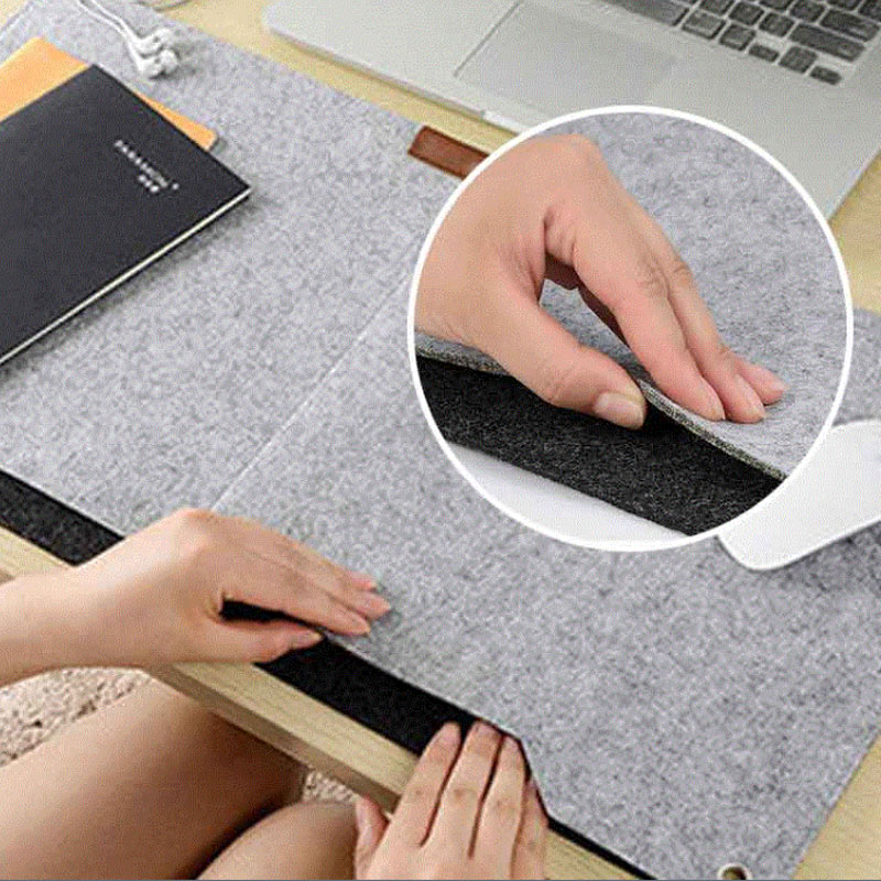 New Comfortable Computer Desk Table Felt Mat Office Desk Mouse Pad Holder Laptop Cases Cushion Mouse Pads DJA99