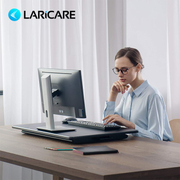 LARICARE Sit Stand Laptop Desk. Height Adjustable and Office Desk. Support All Laptop, Monitor, Integrated Computer