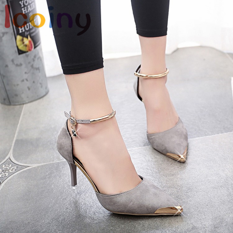Women Shallow Pumps 2017 Fashion High Heels Stilettos Ankle Strap Shoes Ladies Party  Wedding Shoes Footwear Mujer Zapatos siketu 2017 free shipping spring and autumn women shoes fashion sex high heels shoes red wedding shoes pumps g107