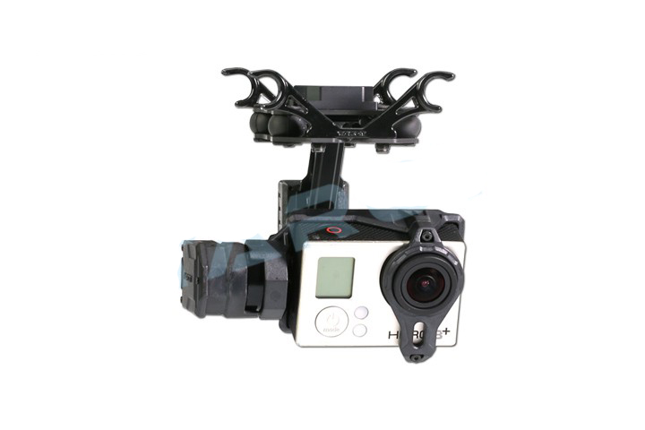 Yuenhoang Mountable 2 Axis Gimbals Stabilizer Tarot T2-2D Quadcopter UAV Aerial Gopro Brushless PTZ for GOPRO HERO3/HERO4 Camera