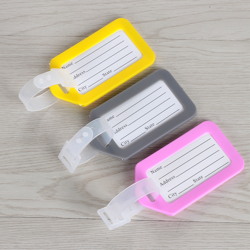 1Pcs 2020 Travel Suitcase ID Address Holder Plastic Luggage Tag Baggage Boarding Tag Portable Label Women Men Travel Accessories