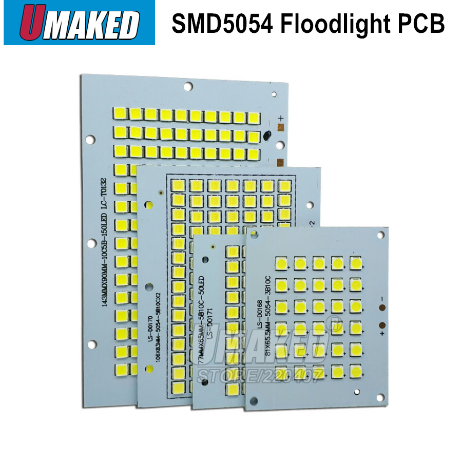 100% Full Power LED Floodlight PCB 30W 50W 100W 150W 200W SMD5054 Led Board,Aluminum Plate For Led Floodlight
