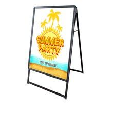 2017 Centch LED Illuminate A-frame Sidewalk Sign Portable Advertising Display Stand Resatuarant Menu Board Snap Aluminum Frame