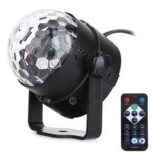7 цветов DJ дискотечный шар Lumiere 3 Вт Звуковая активация лазерный проектор RGB этап эффект освещения лампы легкая музыка рождество КТВ вечерние
