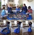 Brinquedo das crianças tenda mat grande super conveniente dobrável de alta qualidade à prova d' água