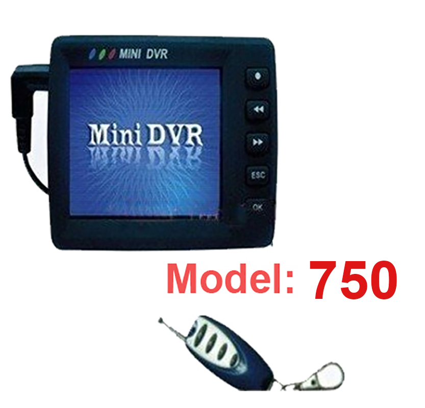 750A 2 4 LCD mini cctv DVR Infrared motion detector remote control mini camcorder dvr camera