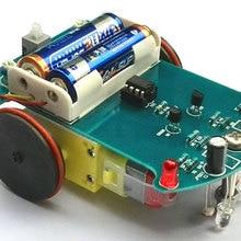 Intelligent tracking car kit D2-1 line patrol car parts production of E