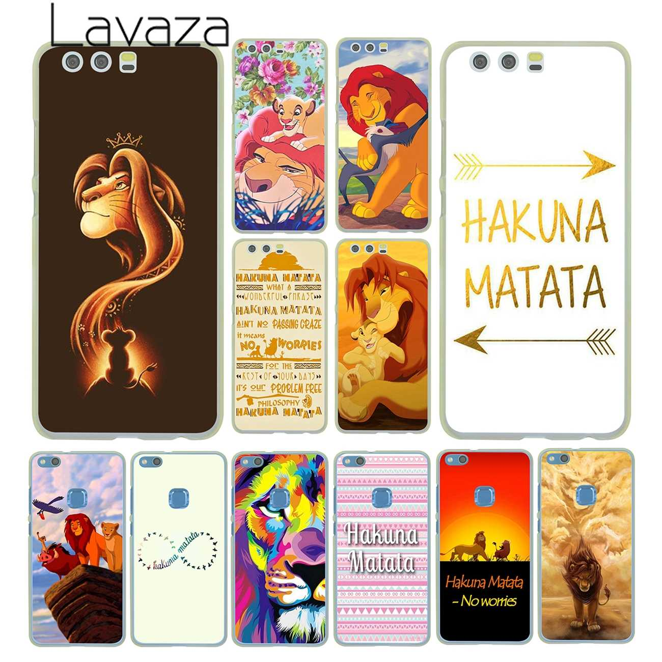 Lavaza The Hakuna Matata Lion King Case for Huawei P30 P20 Pro P9 P10 Plus P8 Lite Mini 2016 2017 P smart Z 2019 Cover
