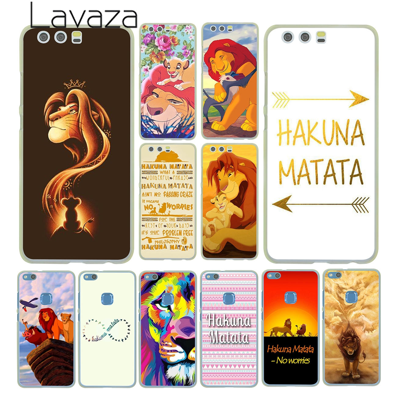 Lavaza The <font><b>Hakuna</b></font> <font><b>Matata</b></font> <font><b>Lion</b></font> <font><b>King</b></font> Case for Huawei P30 P20 Pro P9 P10 Plus P8 Lite Mini 2016 2017 P smart Z 2019 Cover image