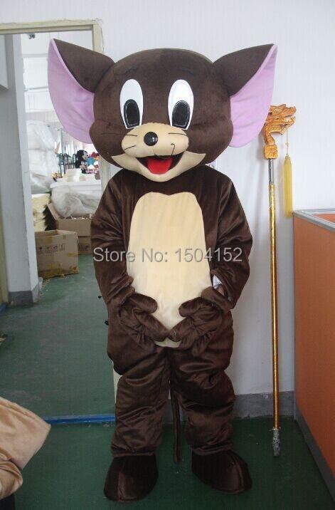 Costume de mascotte souris Jerry déguisement taille adulte livraison gratuite