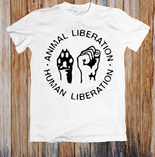 ANIMAL LIBERATION & HUMAN UNISEX T-SHIRT Hot Sell 2018 Fashion  T Shirt Short Sleeve Tricolor Newest