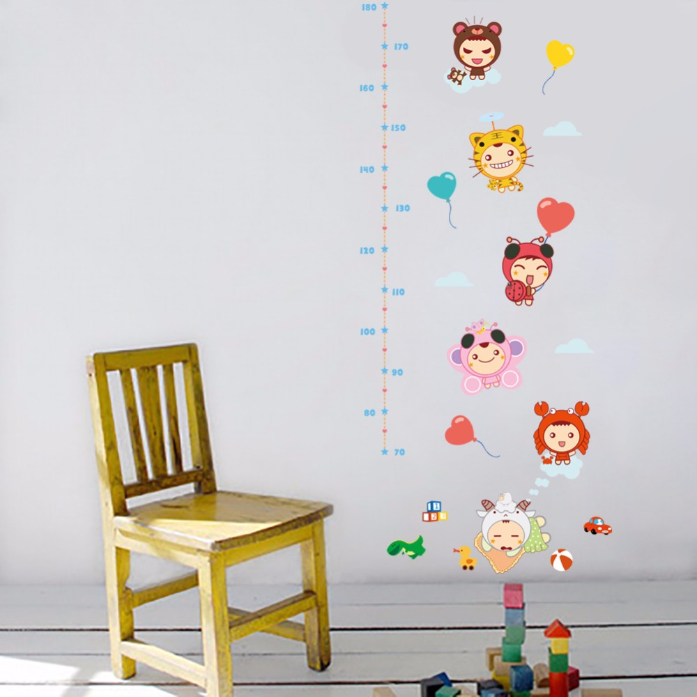 Cartoon baby height ruler wall stickers kids babies infant room cartoon baby height ruler wall stickers kids babies infant room growth chart wall paper poster nursery wall decals wall graphics in wall stickers from home amipublicfo Gallery