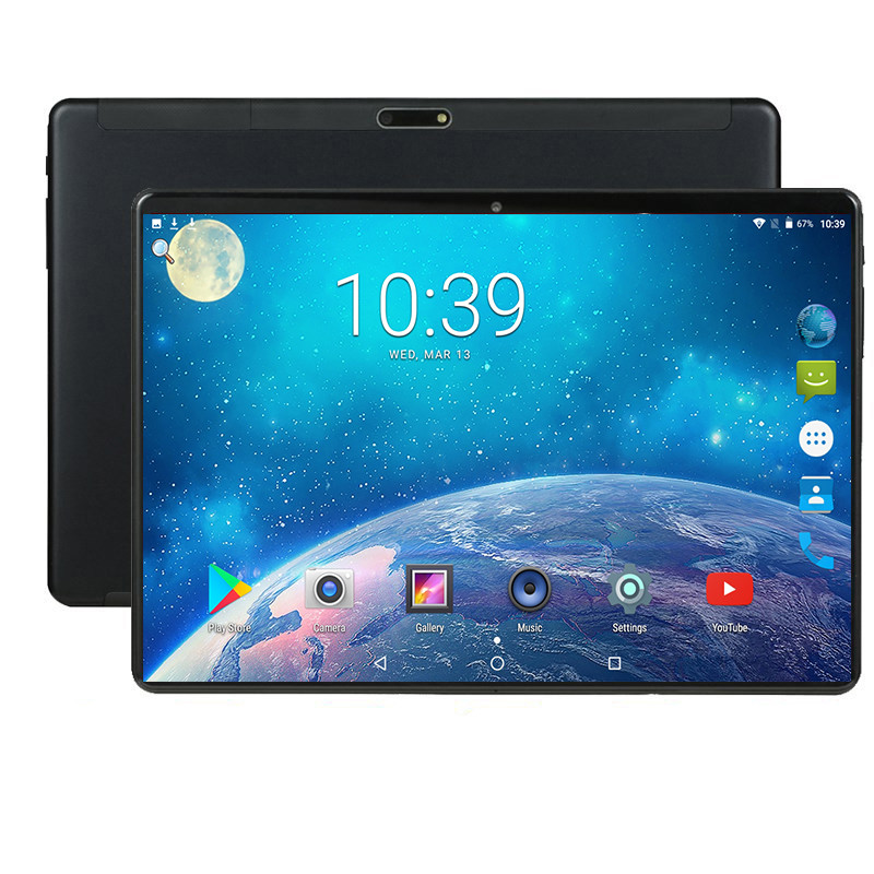 The Tablet 10.1 Tablet Screen Mutlti Touch Android 9.0 Octa Core Ram 6GB ROM 64GB Camera 5MP  Wifi 10 Inch Tablet 4G FDD