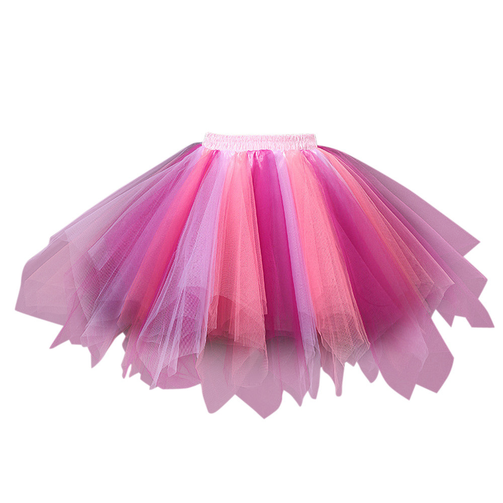 Free Ostrich 2019 Womens High Quality Pleated Gauze Colours Short Skirt Adult Tutu Dancing Skirt With Quality Hot Sale D0935