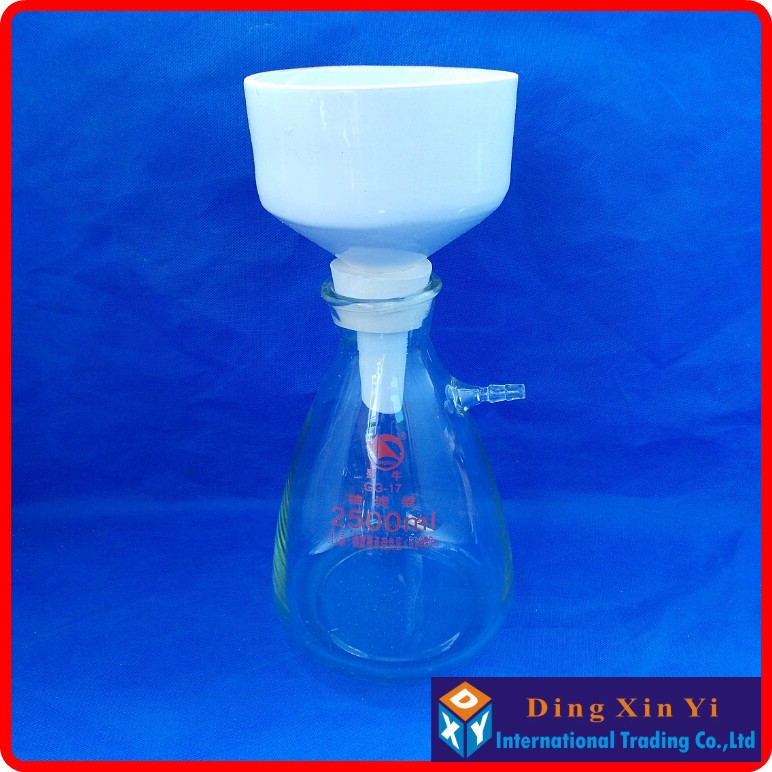 2500ml suction flask+150mm buchner funnel,Filtration Buchner Funnel Kit,With Heavy Wall Glass Flask,Laboratory Chemistry цена