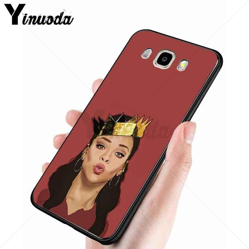 Yinuoda Rihanna Anti ทำงาน Luxury High - end Protector โทรศัพท์กรณีสำหรับ Samsung Galaxy j2prime j4plus j6plus j7 prime j8 2018 ฝาครอบ