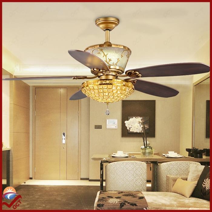 110v 240v Luxury LedChandelier Crystal Ceiling Fan Lights