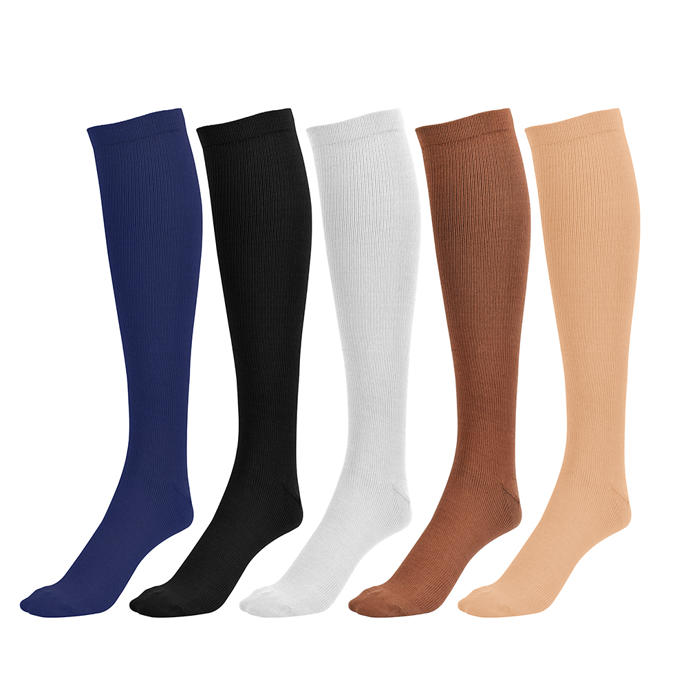 Bright Long Miracle Compression Knee Socks Blood Circulation Stockings Breathable Fat Burn Leg Slimming Socks Anti Fatigue Male Socks Underwear & Sleepwears