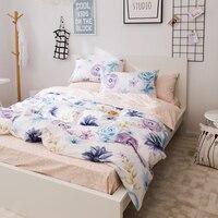 Rosas impressão set capa de edredão bedlinens 100% lençóis de cama de algodão tamanho da Rainha Rei