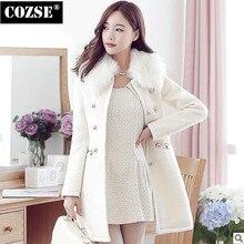 Slim Women Woolen Coat New 2014 Korean Style Winter Wool Women Clothing Free Shipping  H337