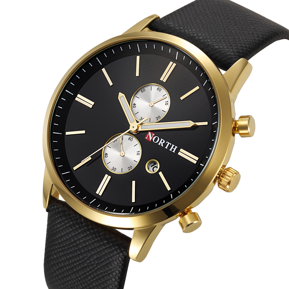 New men fashion casual watch famous brand quartz watch gold wristwatch date display montre reloj for Casual watches