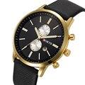 Novos Homens Moda Casual assista Famosa Marca de Quartzo Relógio de Ouro relógio de Pulso Data de Exibição montre reloj relogio masculino