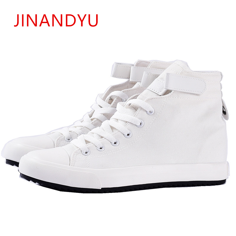 Height Increasing 3/5/8cm Canvas Mens Casual High-top Sneakers Men High Quality Shoes New Fashion Comfort Lace Up elevator Shoe