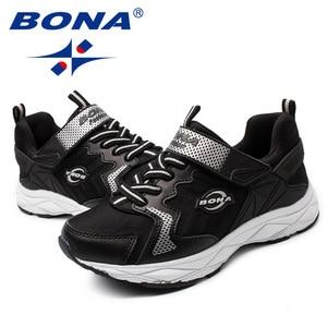 Image 5 - BONA New Phong Cách Phổ Biến Trẻ Em Bình Thường Giày Hook & Vòng Cô Gái Giày Tổng Hợp Trai Thời Trang Ngoài Trời Sneakers