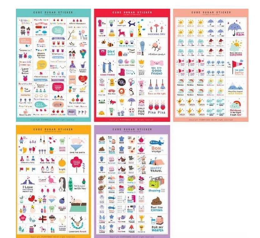 5 Sheets/set Qute Annhouse Happy Days PVC Diary Stickers