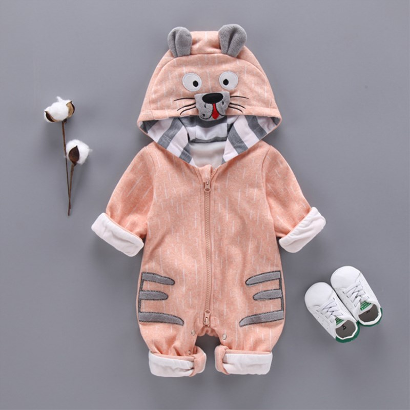 Fashion Animal Baby Romper Tiger Bebe Infant Clothing Baby Boy Girl Clothes Cute Cartoon Tiger Winter Warm Jumpsuit Costume newborn autumn winter clothes baby romper clothing long sleeve cotton animal baby bebe onesie girl boy cartoon warm jumpsuit