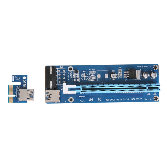 130X44X15mm 60cm Wire Length PCI E 1X to 16X Extender Riser Card ...