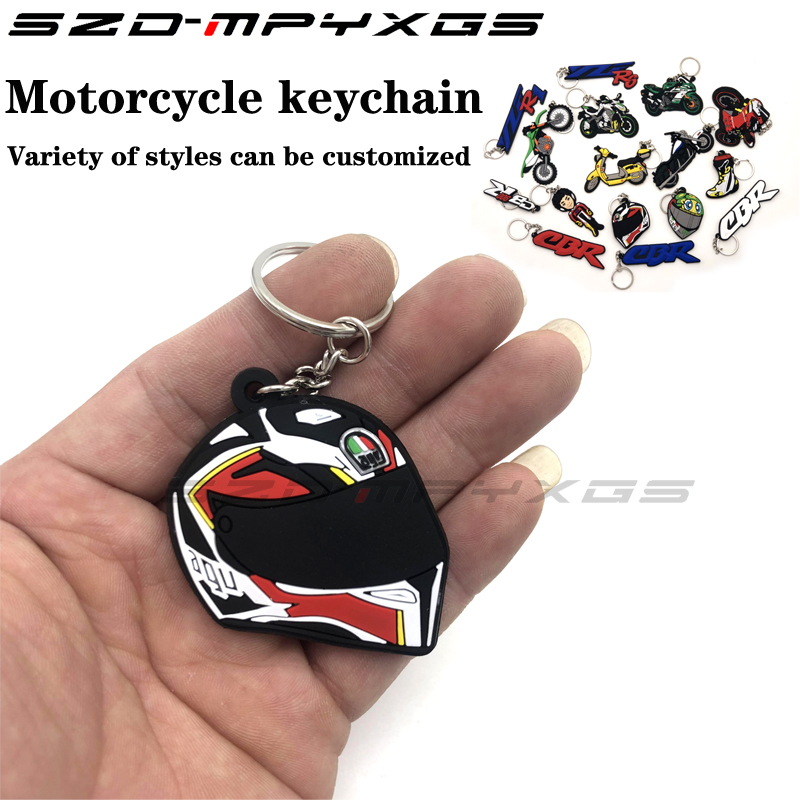 Motorcycle Model Shape SOFT RUBBER KEYCHAIN KEYRING KEY CHAIN KEY RING For Honda kawasaki BMW Harley Suzuki Yamaha with Logo in Covers Ornamental Mouldings from Automobiles Motorcycles