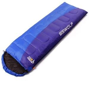 Ultralight cotton single camping sleeping bag winter autumn envelope hooded outdoor sleeping bags camping vacuum bed
