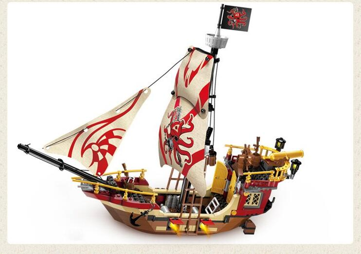Models Building Toy 1311 Pirates Ship 368pcs Educational Building