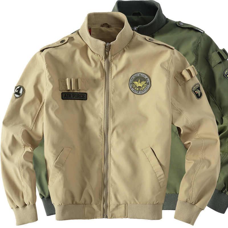 Военная Униформа Тактический мужчина армии ма-1 полета Курточка бомбер Бейсбол Varsity Колледж летчик Водонепроницаемый зимнее пальто для Для мужчин