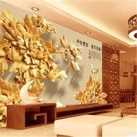 beibehang 3D decorative painting peonies living room backdrop wallpaper for 3d wall murals wallpaper walls-wallpaper