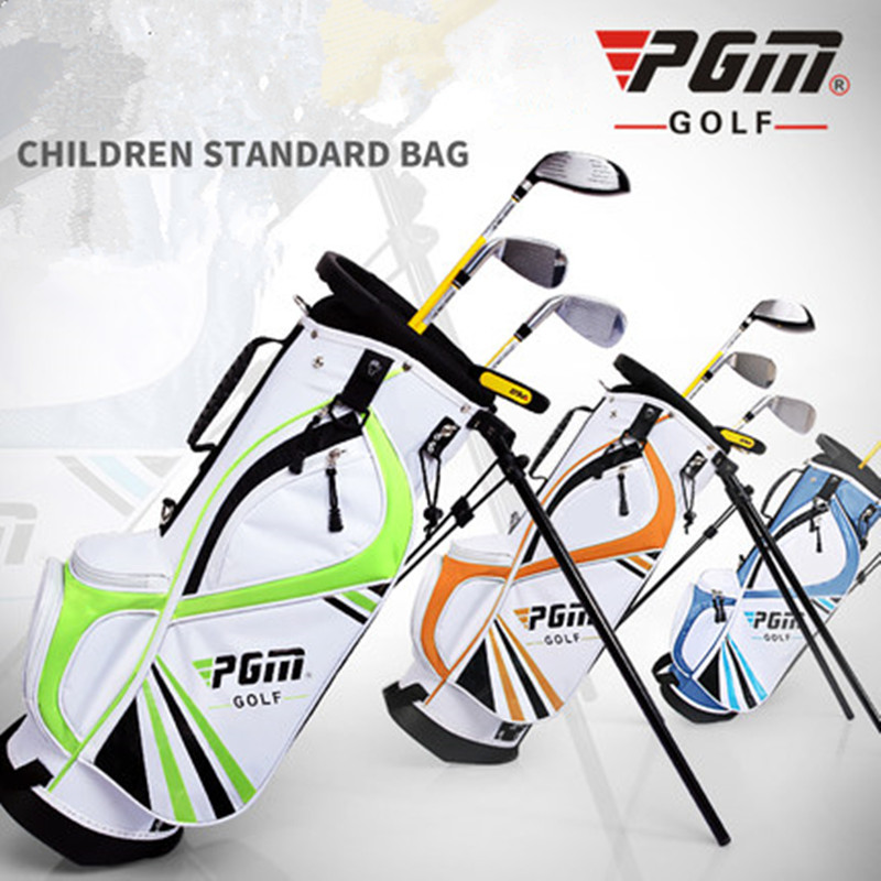 PGM genuine! Children's Golf Bag Multifunctional Bracket Bag Double Shoulder Belt Child Bundle Bag Multifunctional Design U-Shou pgm brand golf bag golf clothes bag men