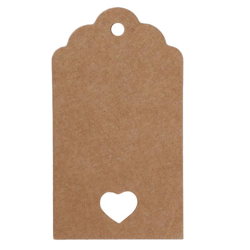 50 шт. крафт-бумага свадебный подарок ценники 10 м веревка гребешок этикетка для дома Декор Спальни молодоженов - Цвет: 03