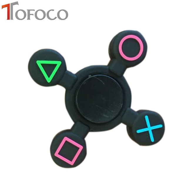 TOFOCO EDC Пластик ручной Spinner Tri Непоседа счетчик 4 PS4 контроллер Пластик фокус антистресс Figet Spiner куб палец Spinner