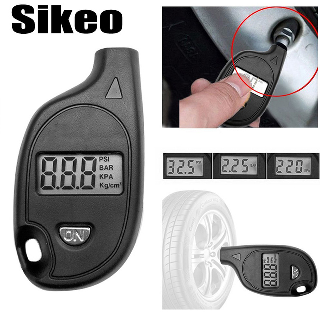 Diagnostic-tool 2-150PSI Diagnostic Tool Digital LCD Display Keychain Tire Air Vehicle Motorcycle Car-detector Pressure Gauge