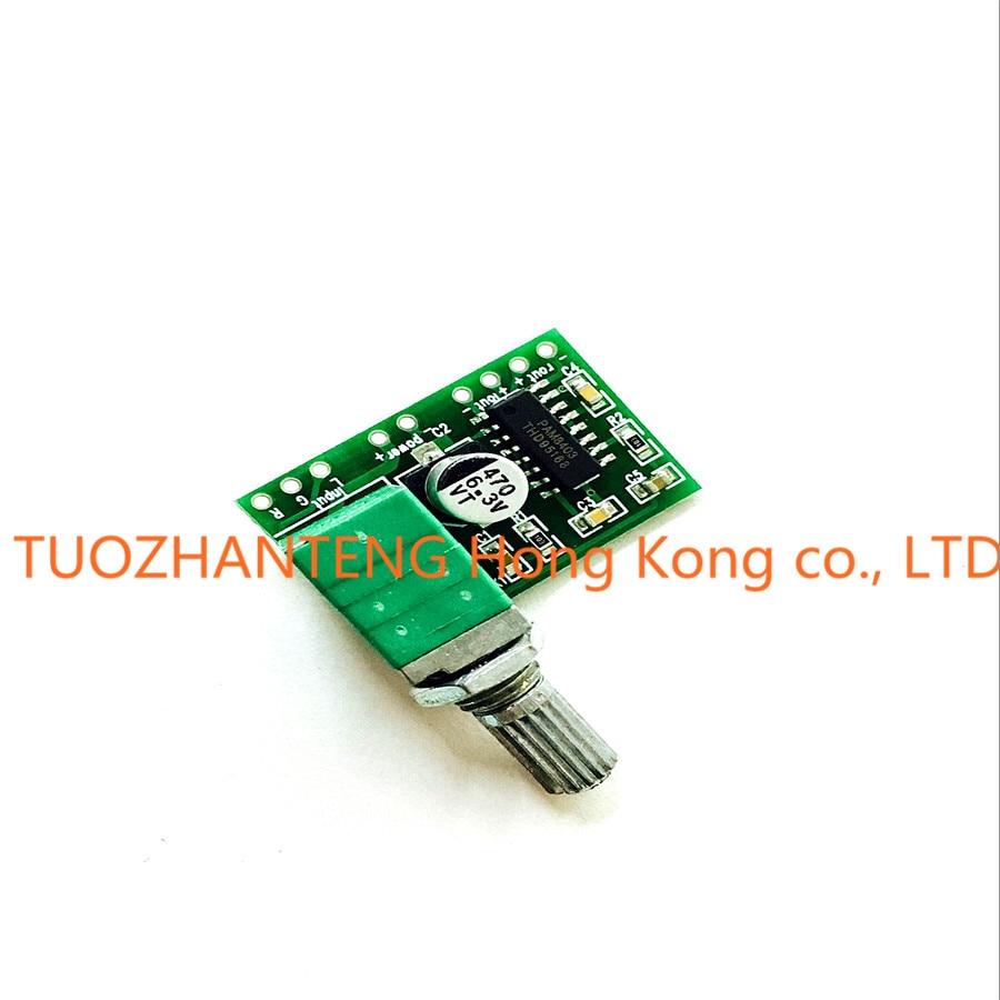 1PCS PAM8403 mini 5V digital amplifier board with switch potentiometer can be font b USB b