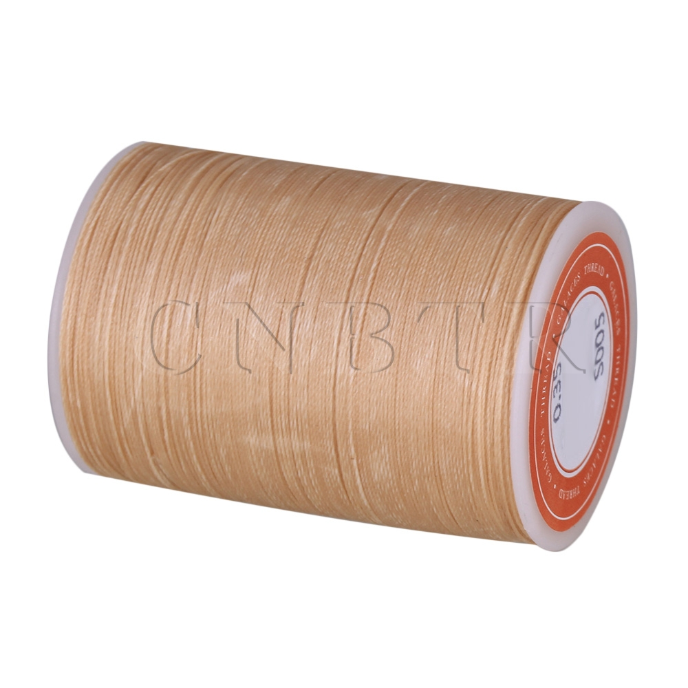 CNBTR Beige 3-Ply Waxed Polyester Cord Leather Sewing Thread Round 300M 0.35MM бра sland катрин beige