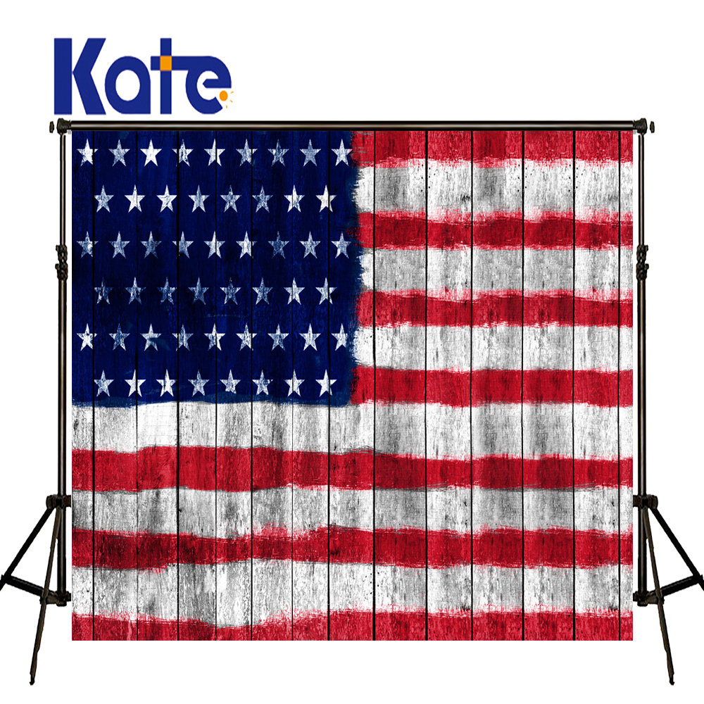 KATE American Flag Backdrop Wood Plank Backdrops Photography Backdrops Photography Background Kids for Newborn Photo Shooting