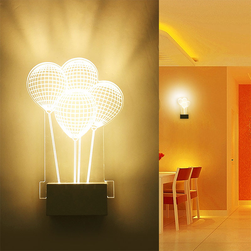 Modern Led Wall Lamps 3D Acrylic Balloon Shape Wall Light Bedside lamp AC110-240V Living Room Indoor Wall Lighting # image