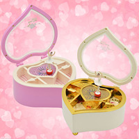 Heart Shaped Dancing Ballerina Music Box Mechanical Musical Jewelry Box Girls Kids Christmas Birthday Gift Music