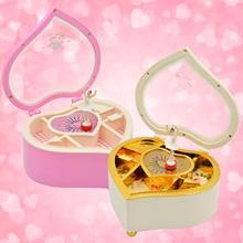 Bevigac Cute Heart Shaped Rotating Dancing Ballerina Music Box Mechanical Musical Jewelry Girls Christmas Birthday Gift Present