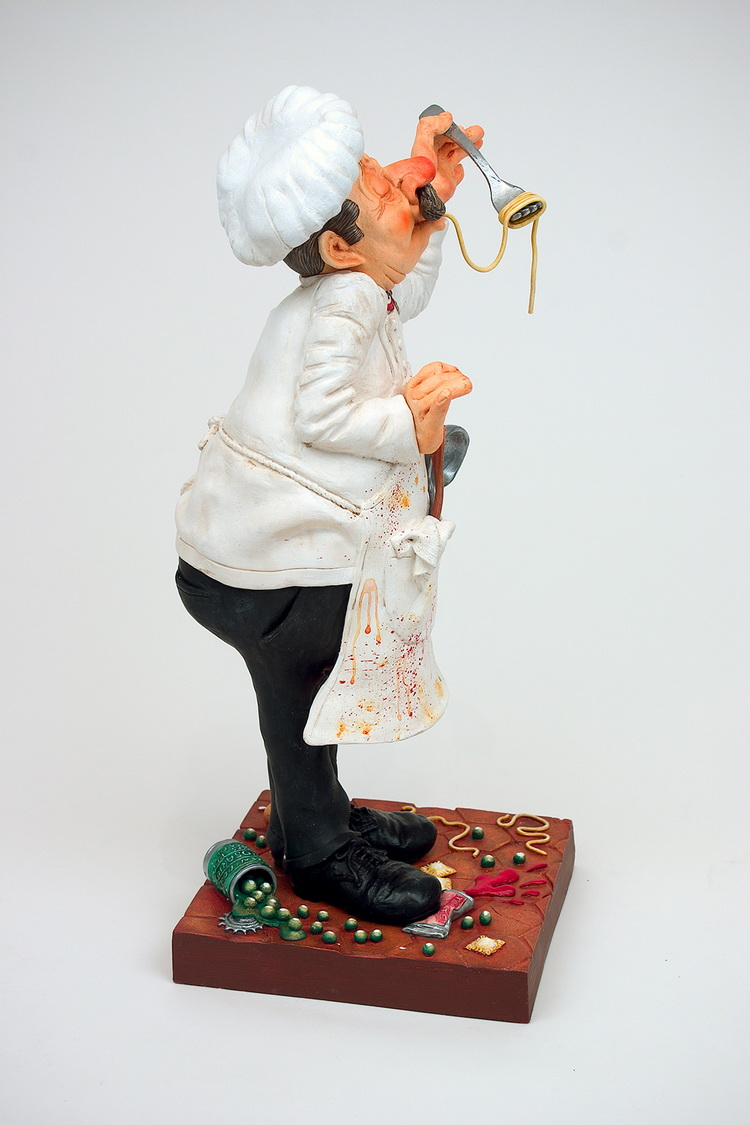 French Humor Art Master Chef Statue Birthday Gift Decoration Desktop Furniture Explosion Statue lawyer character crafts Old image