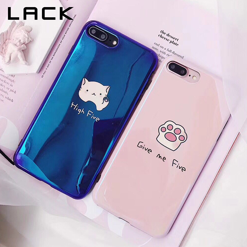 LACK Blu-ray Lovers Phone Case For iphone X Case For iphone 6S 6 7 8 Plus Fashion Smooth Back Cover Couples Letter Print Cases