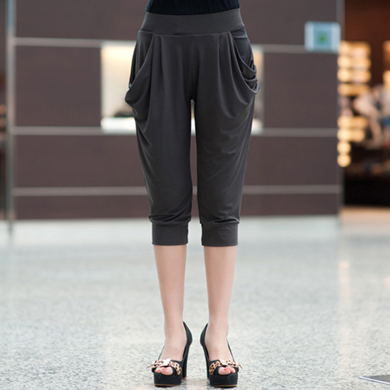 Summer Womens Harem Pants High Waist Loose Straight Calf-length Pants Comfortable Casual Pants Large Size 8XL OL Pants 2008 4